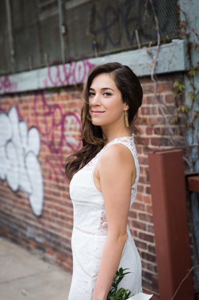 Bridal portraits at a Wythe Hotel wedding
