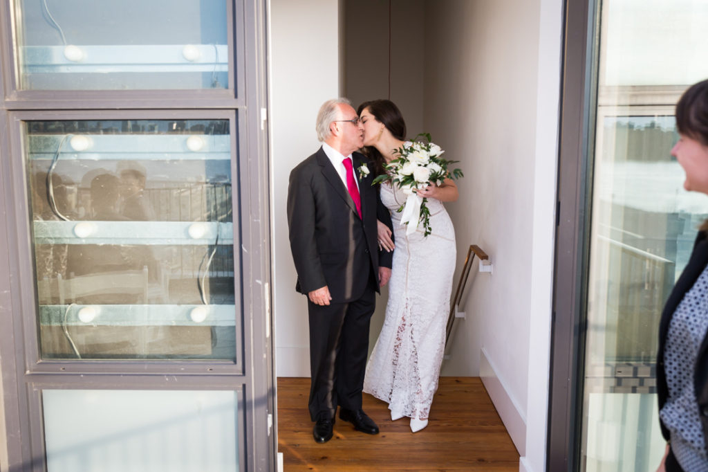 Rooftop ceremony at a Wythe Hotel wedding