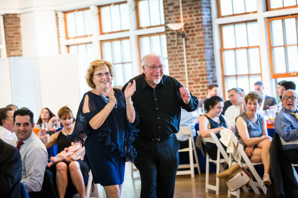 Grandparents clapping by bar mitzvah photographer, Kelly Williams