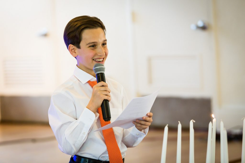 Birthday boy by bar mitzvah photographer, Kelly Williams