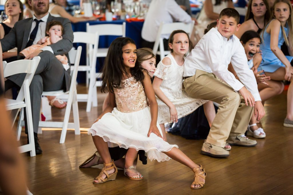Kids playing games by bar mitzvah photographer, Kelly Williams