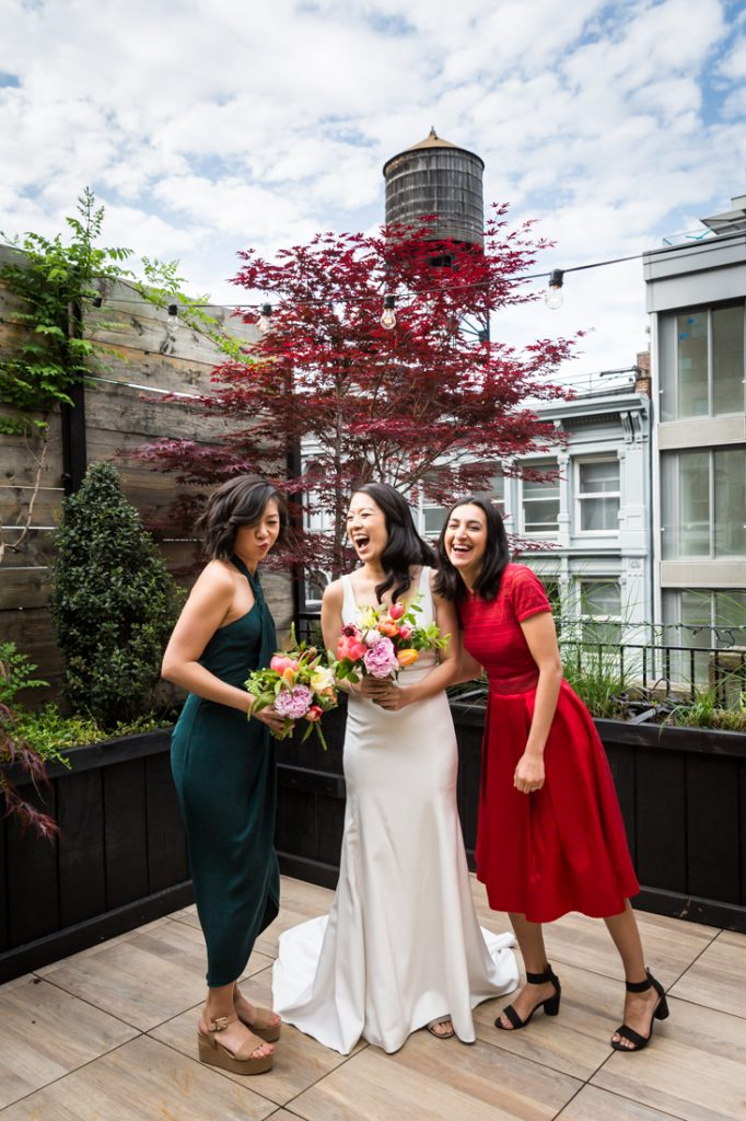 Family portraits before a SoHo wedding