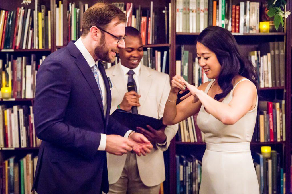 Ceremony at a SoHo wedding