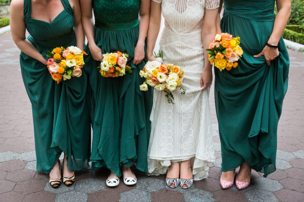 Bridal party portraits for a Bronx Zoo wedding