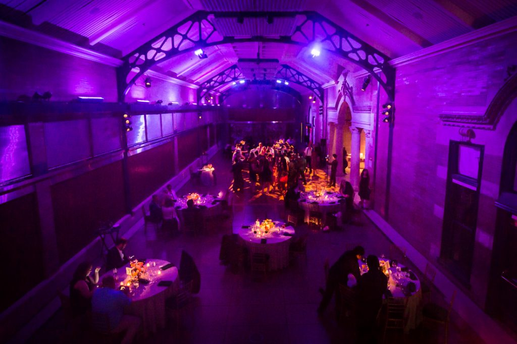 Reception at a Bronx Zoo wedding
