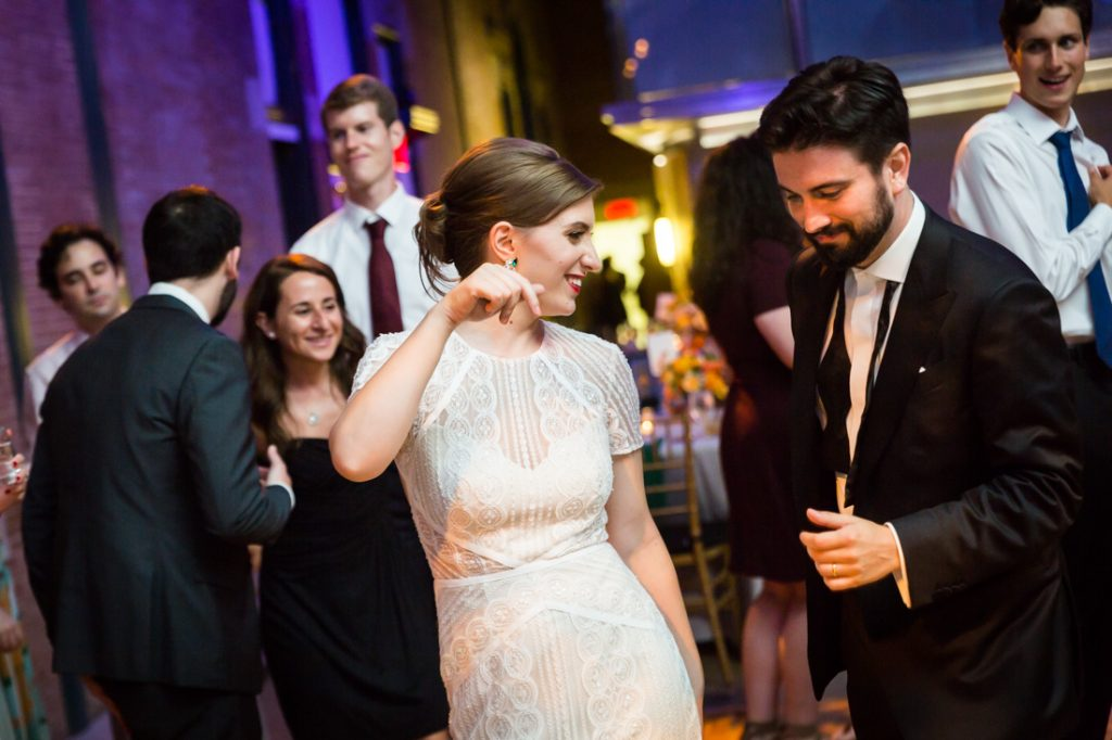 Guests dancing at a Bronx Zoo wedding