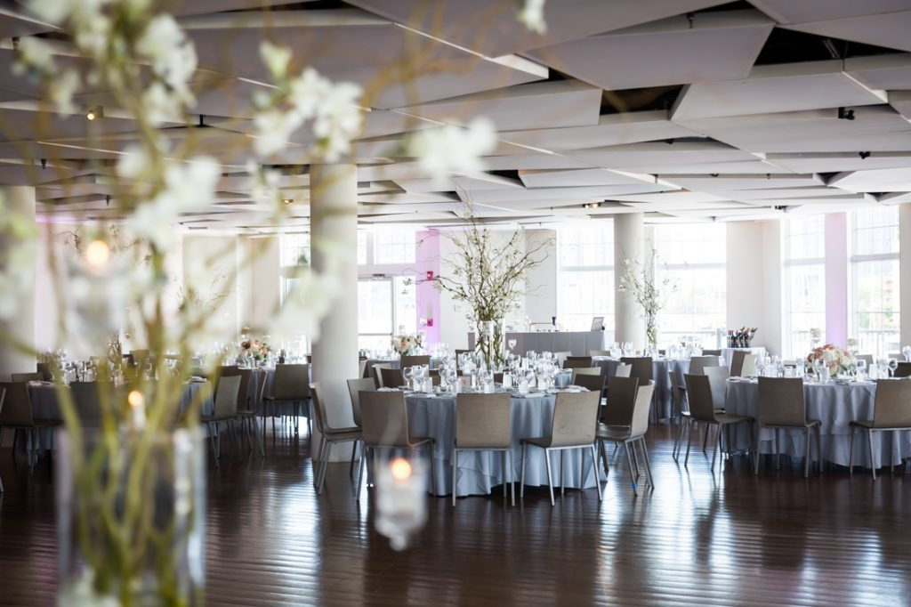 Reception details at a Maritime Parc wedding