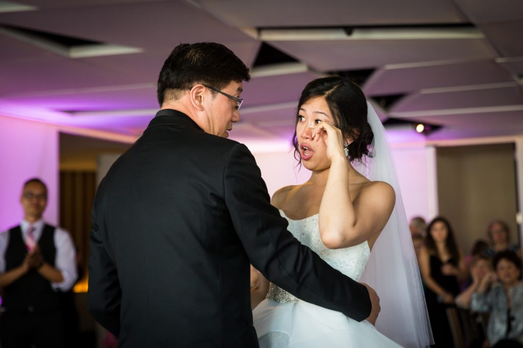 Father-daughter dance at a Maritime Parc wedding