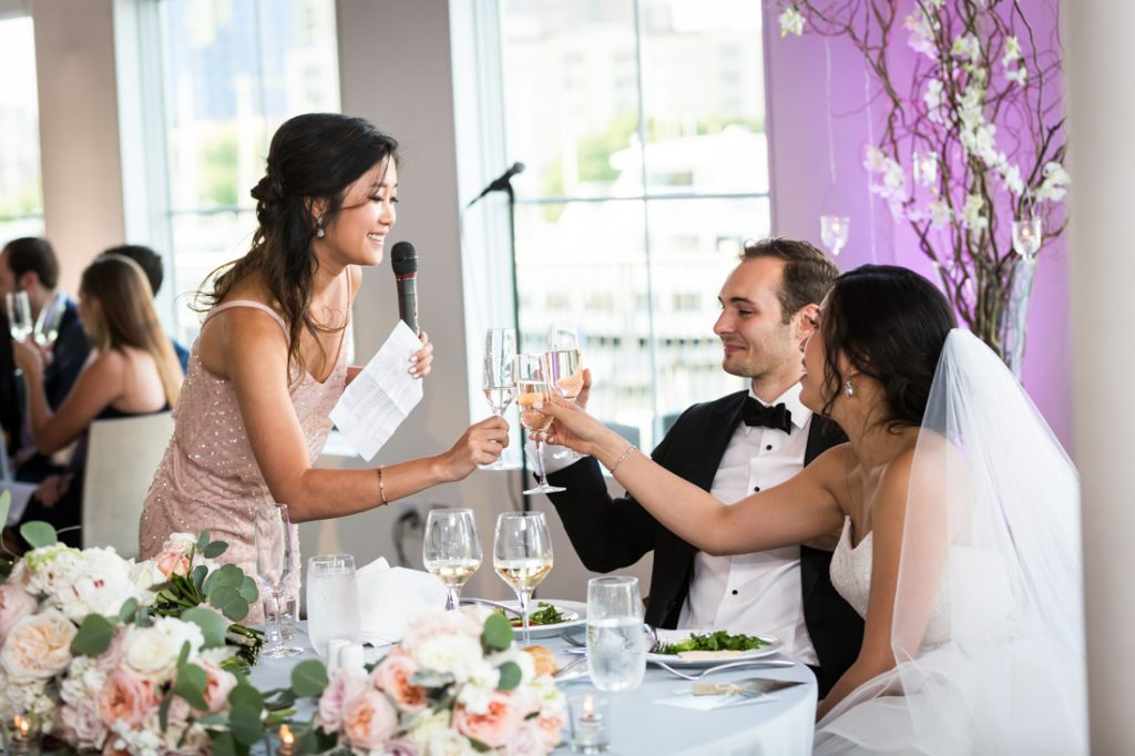Toasts at a Maritime Parc wedding