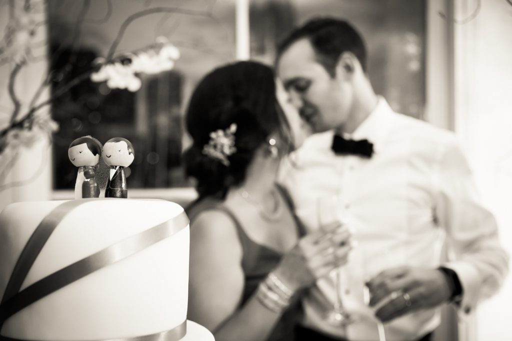 Cake cutting at a Maritime Parc wedding