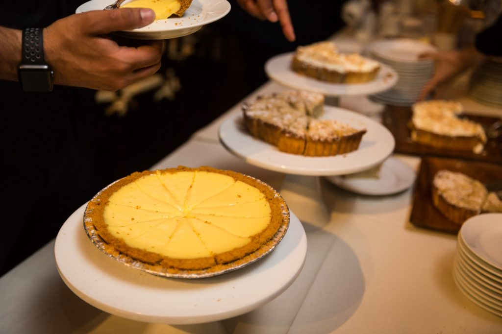 Pies at a Brooklyn Historical Society wedding