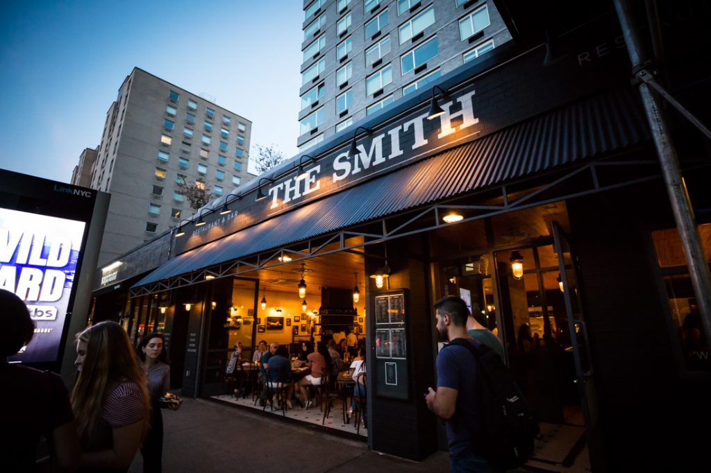 The Smith restaurant for an article on details your wedding photographer needs to know