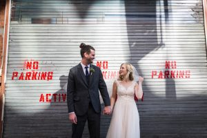Bride and groom portrait before a Gallow Green wedding