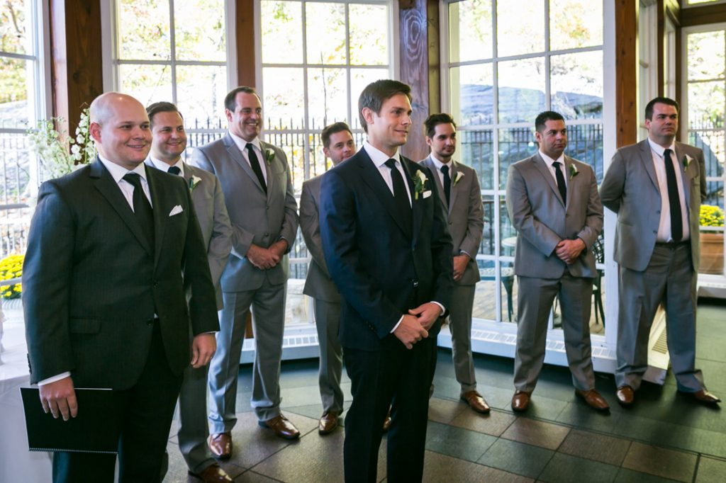Groom waiting for bride at altar for an article on wedding officiant tips