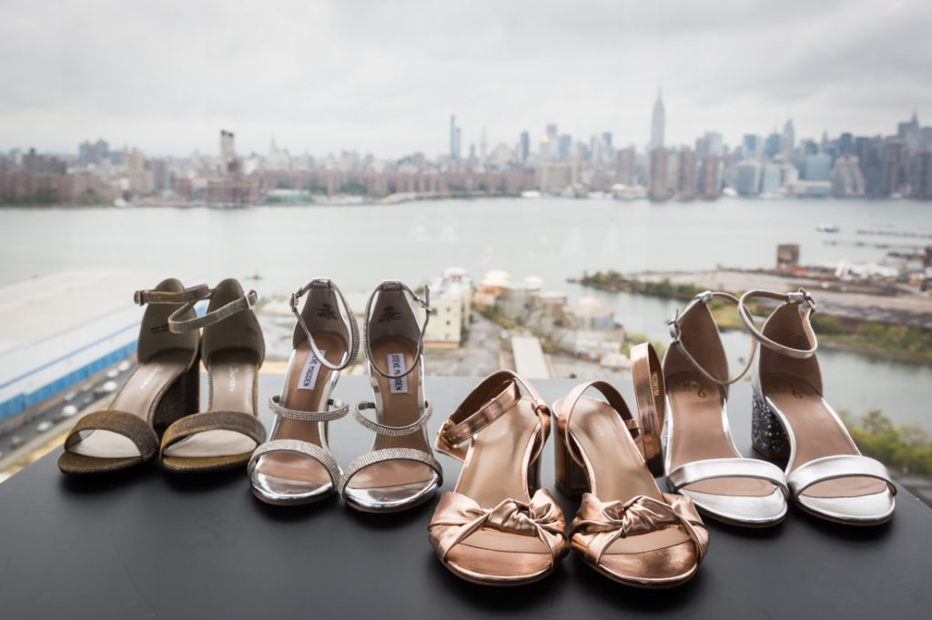 Bride and bridesmaids shoes for a 26 Bridge wedding