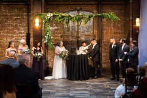 Ceremony at a 26 Bridge wedding