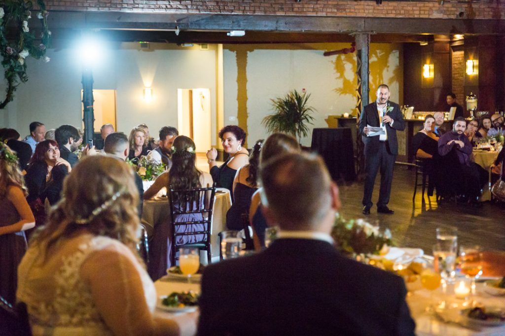 Toasts at a 26 Bridge wedding