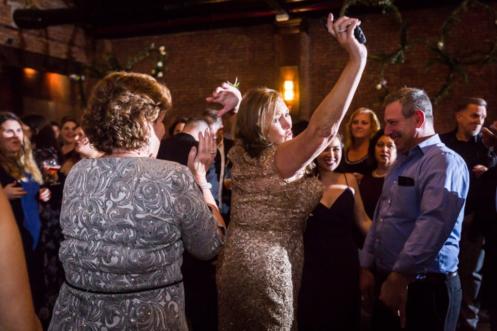 Guests dancing at a 26 Bridge wedding