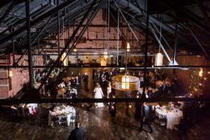 Venue wide shot at a 26 Bridge wedding