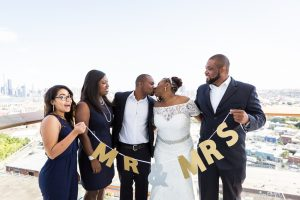 Bridal party portrait for an article on elopement tips