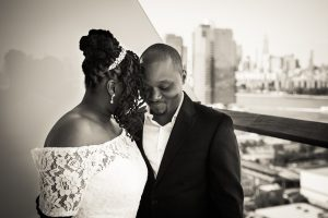 Portrait of a bride and groom for an article on elopement tips