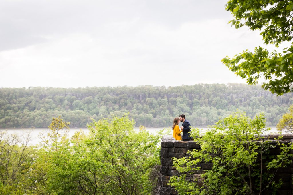 Engagement portrait at Fort Tryon Park