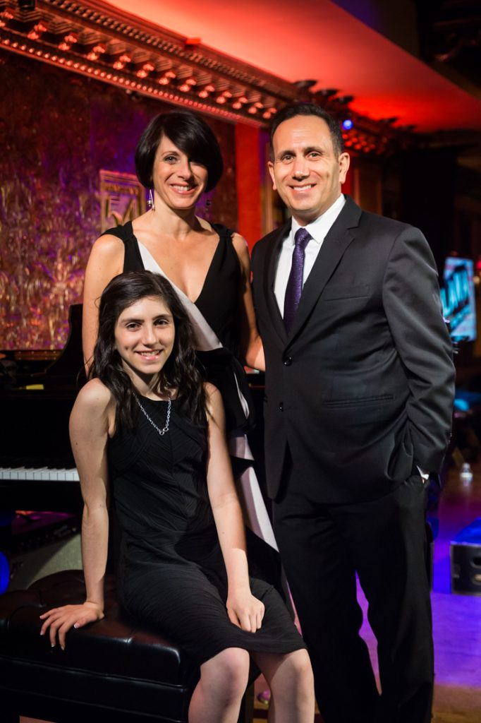 Family portrait at a bat mitzvah for an article on 'How to Find a Venue'
