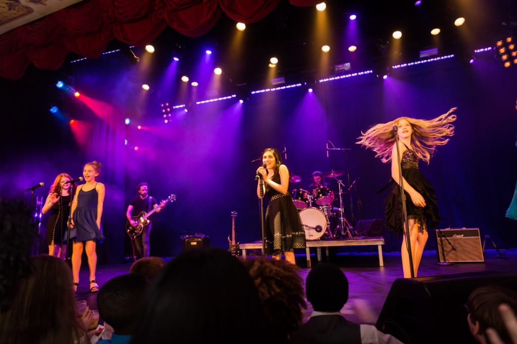 Band performing at a bat mitzvah for an article on 'How to Find a Venue'
