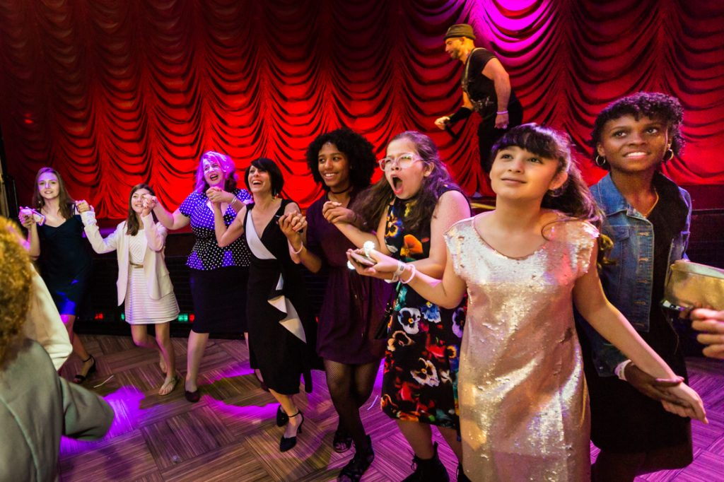 Hora dance at a bat mitzvah for an article on 'How to Find a Venue'