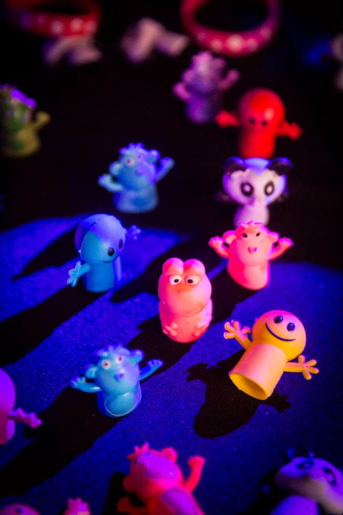 Finger puppets at a bat mitzvah for an article on 'How to Find a Venue'