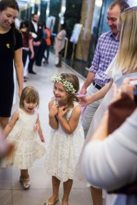 Little flower girls for an article on How to Get Married at City Hall in Any NYC Borough