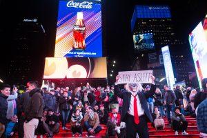 Trump zombie in Times Square