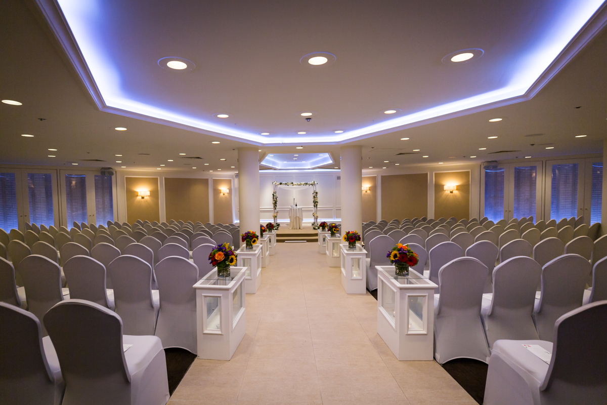 Ceremony room for article on a Terrace on the Park wedding