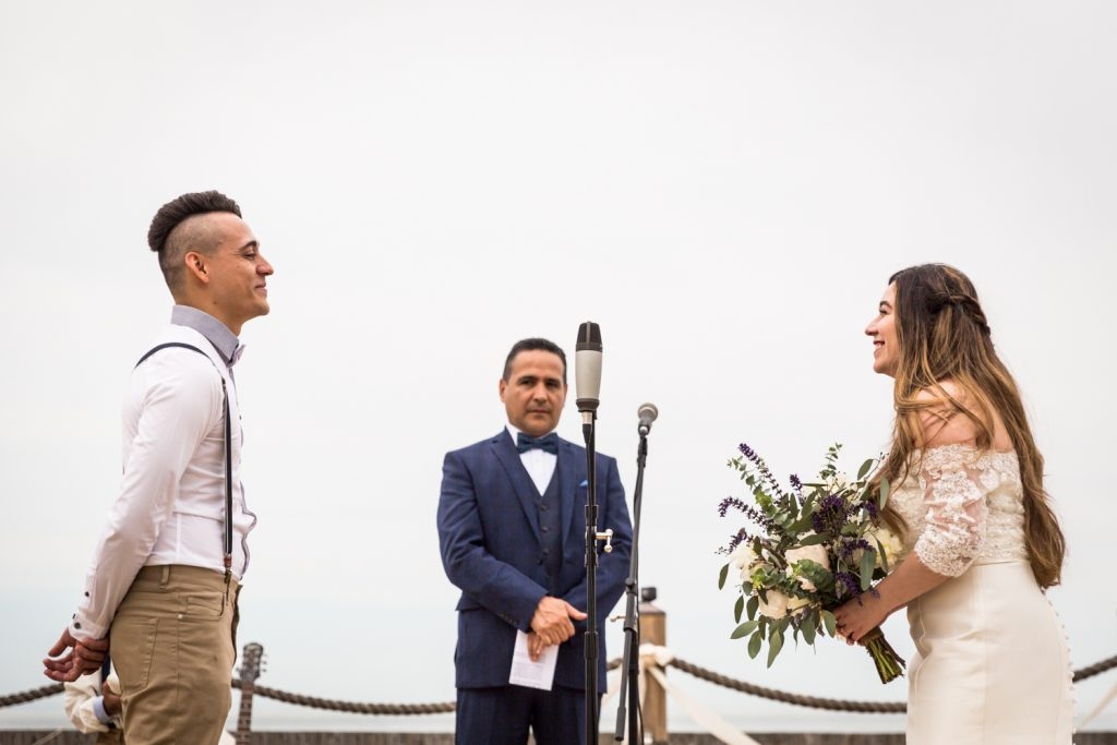 Wedding ceremony for an article on Montauk Lighthouse wedding tips