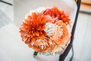 Paper bouquet for an article on bouquet and garter toss alternatives
