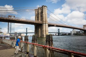 Brooklyn Bridge for an article on City Hall wedding portrait locations