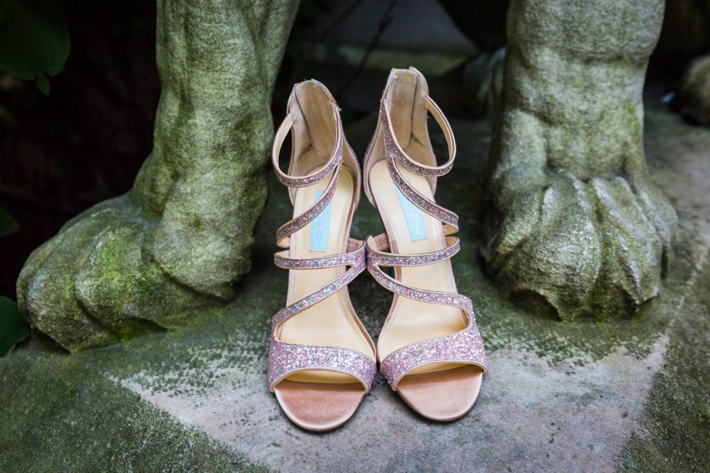 Betsey Johnson heels at a Bronx Zoo wedding