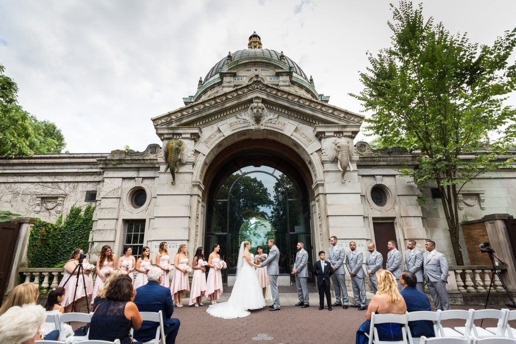 Wedding ceremony at a Bronx Zoo wedding