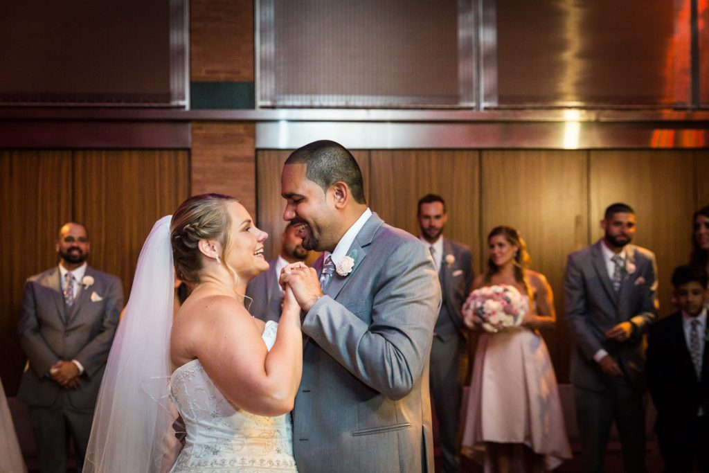 First dance at a Bronx Zoo wedding