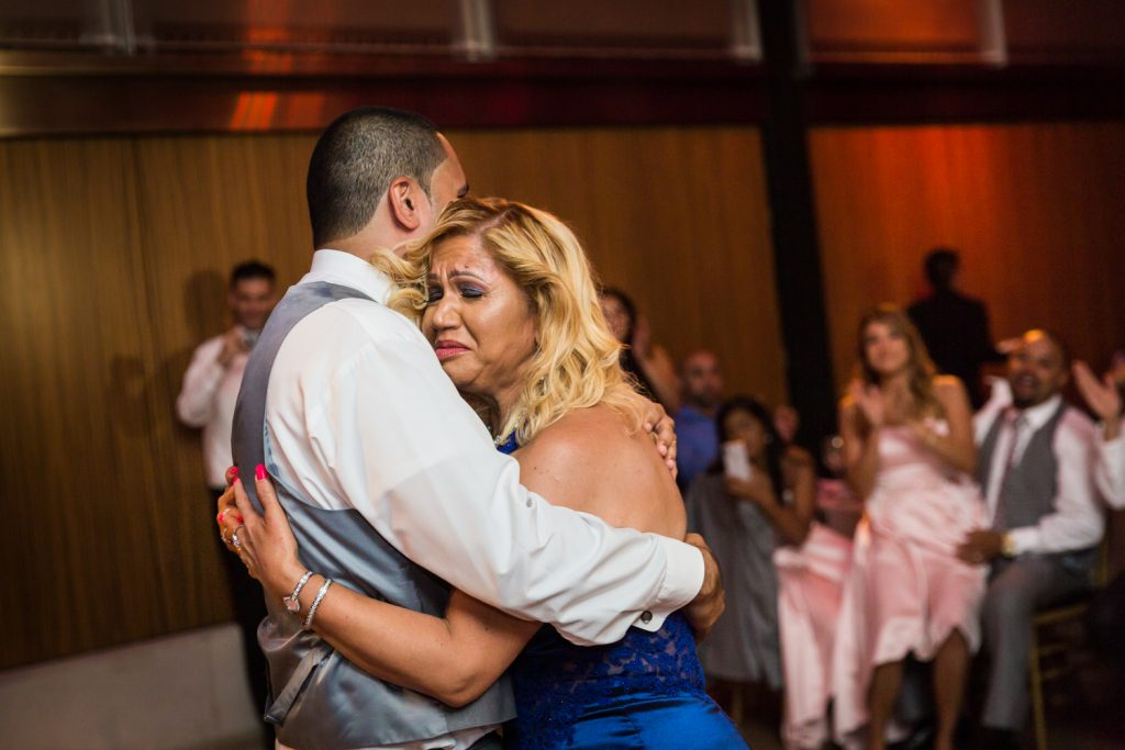 Mother son dance at a Bronx Zoo wedding