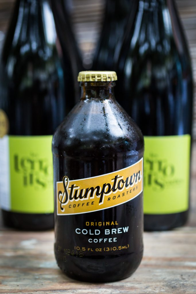 Bottle of Stumptown Cold Brew for an article on the pros and cons of a restaurant wedding