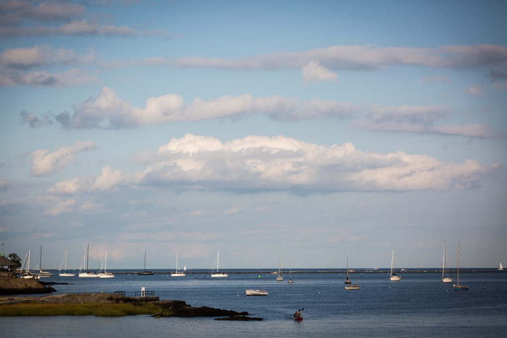 View of Long Island Sound at a Larchmont Shore Club wedding