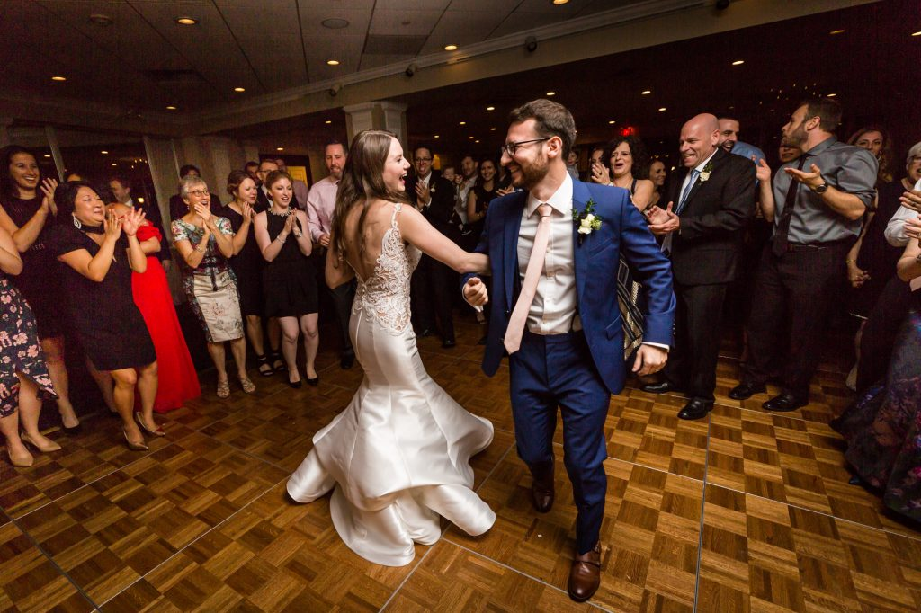 Bride and groom first dance at a Larchmont Shore Club wedding