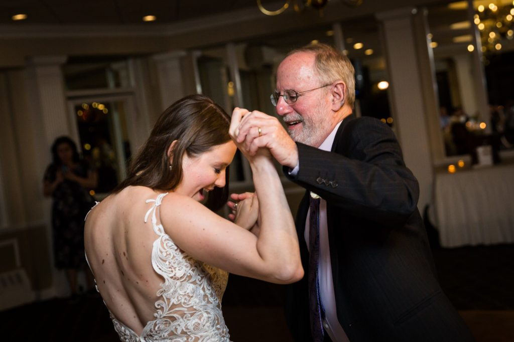 Father daughter dance at a Larchmont Shore Club wedding