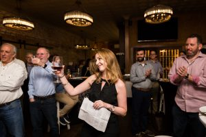 Toasts at a ketubah signing ceremony