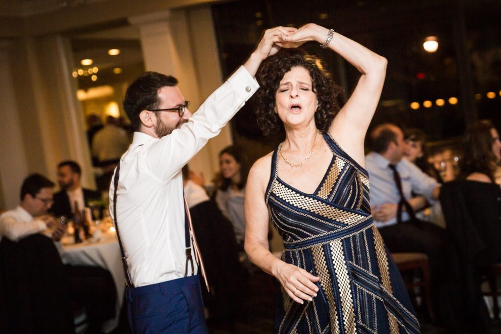 Groom dancing with mother at a Larchmont Shore Club wedding