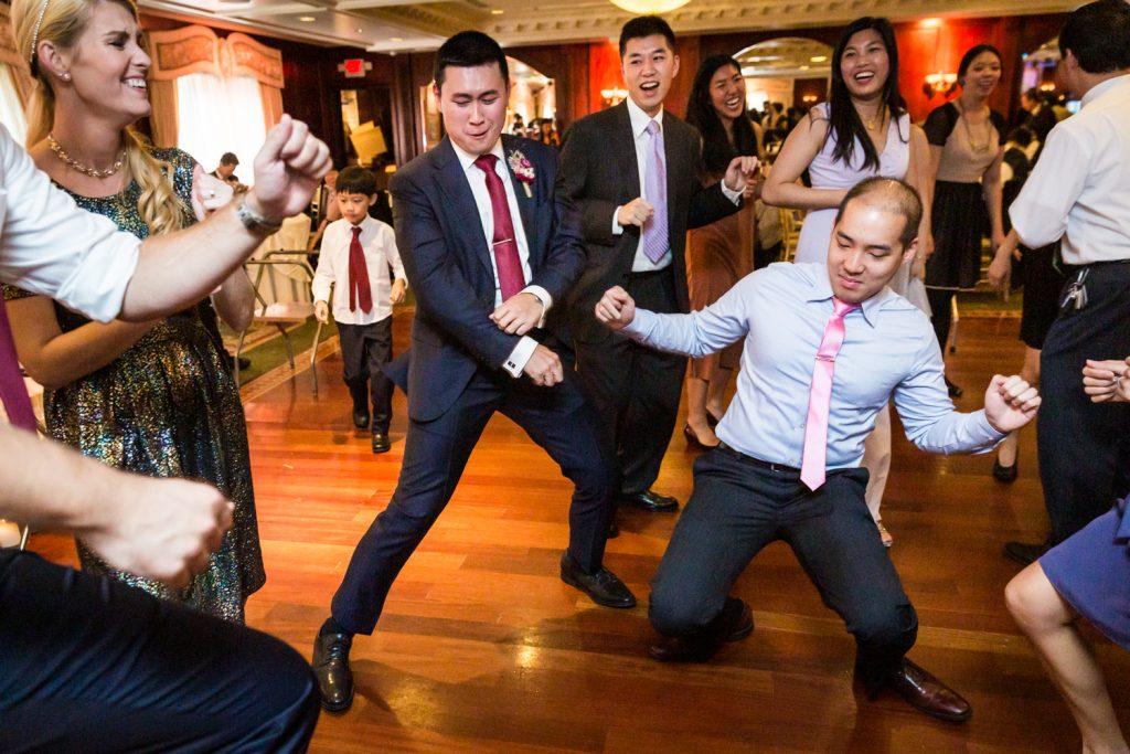 Guests dancing at a Westbury Manor wedding
