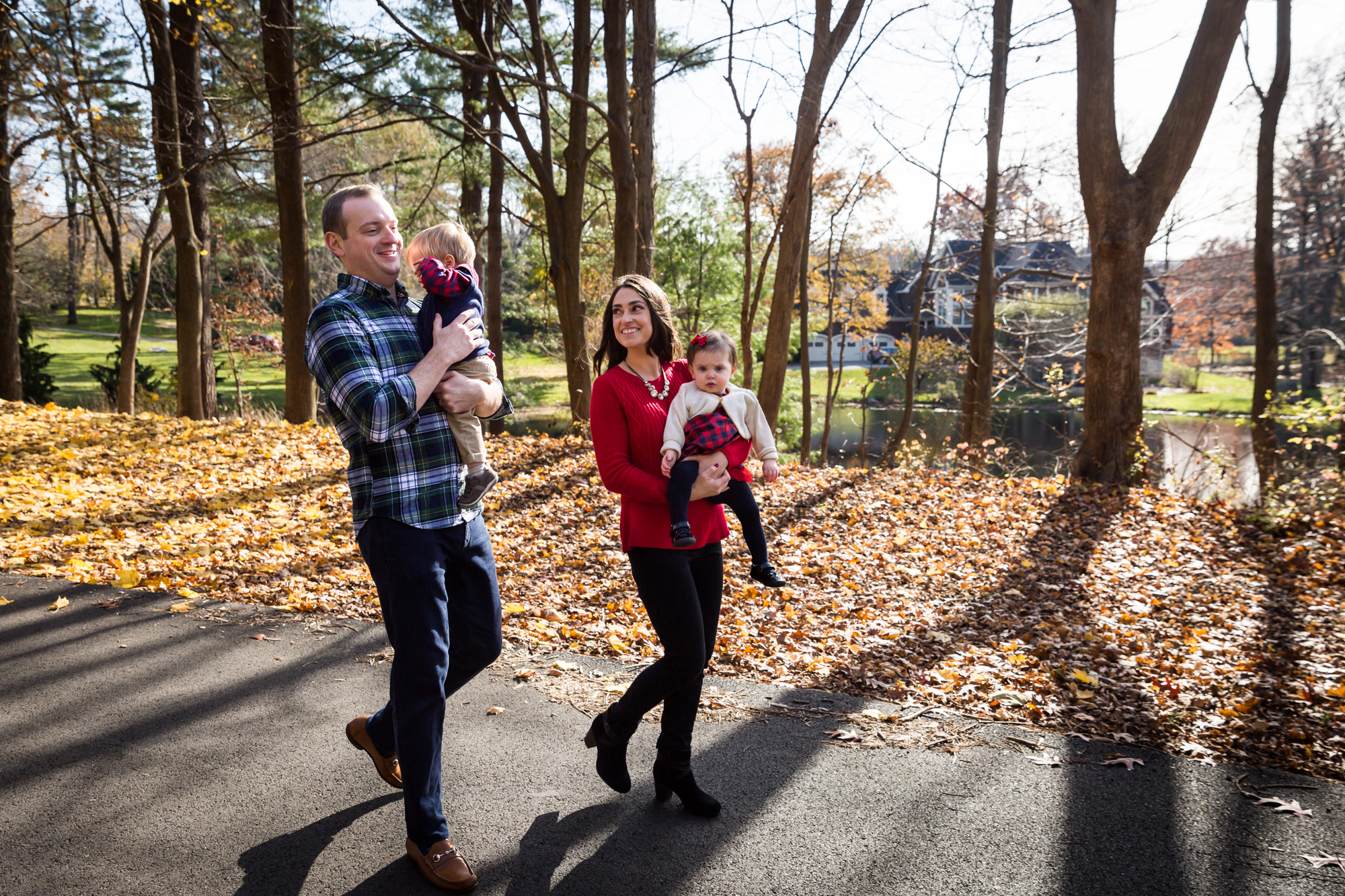 Family walking for article on how to get your kids to look into the camera