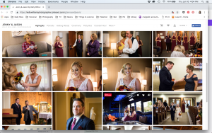 Screenshots of client online photo gallery for an article on how to use your online photo gallery