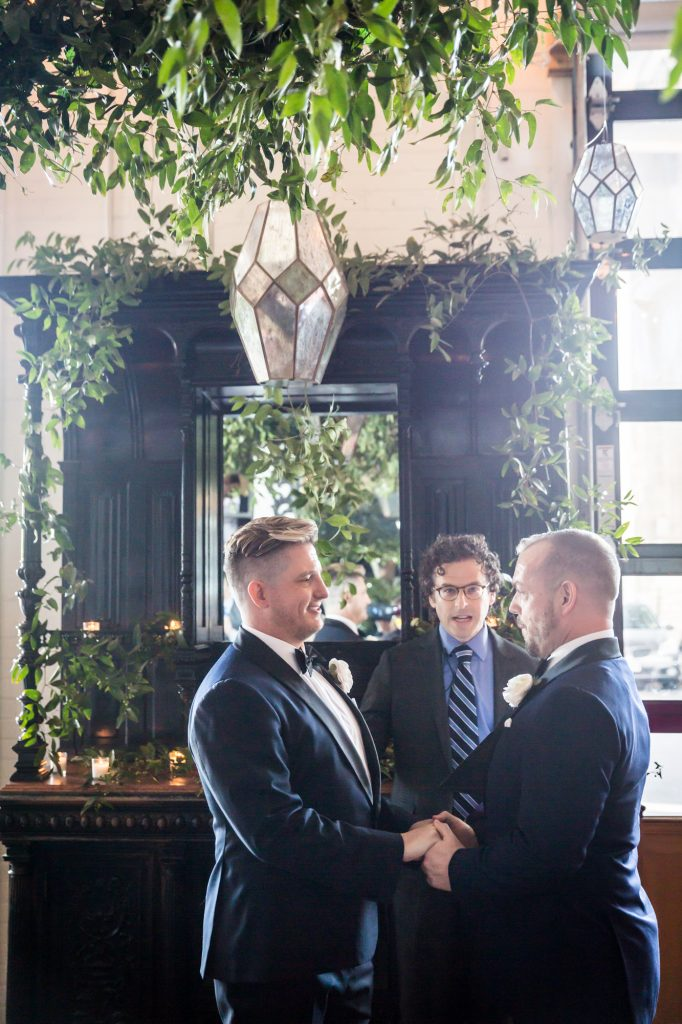 Ceremony at a same sex wedding celebration in Washington DC